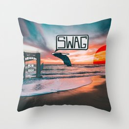 Swag Whale Throw Pillow