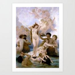"William-Adolphe Bouguereau ""The Birth of Venus"" Art Print"