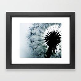dandelion grey II Framed Art Print