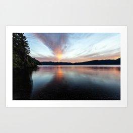 after sunset Art Print