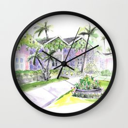 Villa 2 Wall Clock