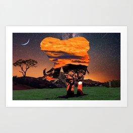 Elephant Skies Art Print