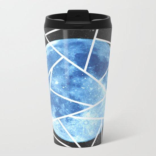 Blue Moon Minimal Design Metal Travel Mug