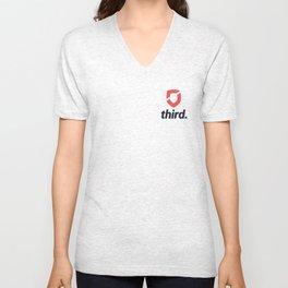 third. Logo - Colour Unisex V-Neck