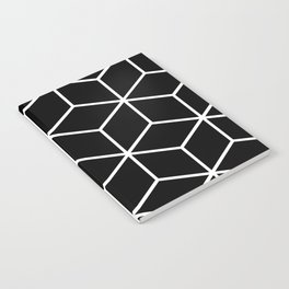 Black and White - Geometric Cube Design II Notebook