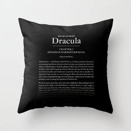 Dracula by Bram Stoker Throw Pillow