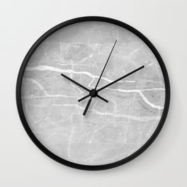 Gray and White Marble 2 Wall Clock