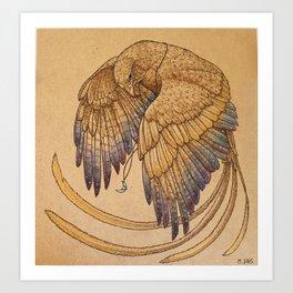 Lunar Falcon Art Print