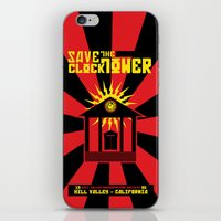 propaganda iPhone & iPod Skins featuring Clocktower Propaganda by DGN Graphix