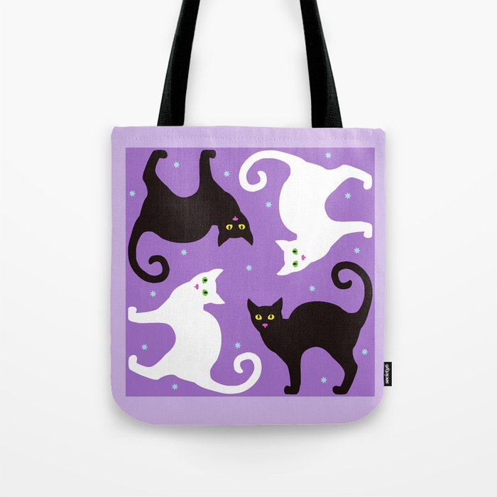 Blueberry Cats Tote Bag