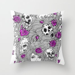 Purple Lady Nature. Throw Pillow
