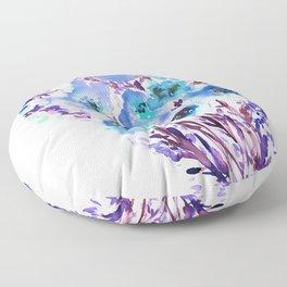 Bouquet Blue Floor Pillow