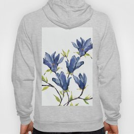 Blue Flowers 3 Hoody