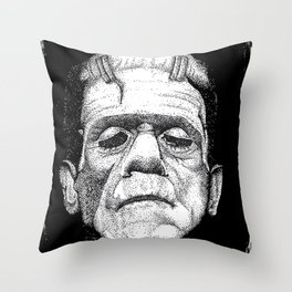Frankensteins Monster Throw Pillow