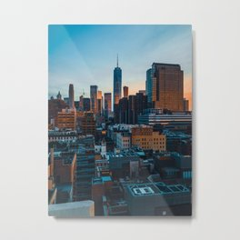 World Trade Center Dusk Colors Metal Print