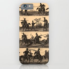 Iconographic Encyclopedia of Science, Literature and Art (1851) - Horse-Fencing and Jousting iPhone Case