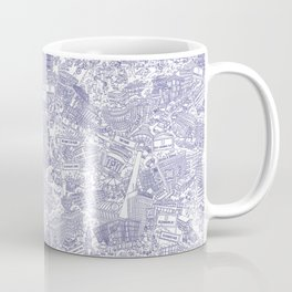 Illustrated map of Berlin-Mitte. Ink pen design Coffee Mug
