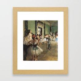 The Dance Class, Edgar Degas, 1874 Framed Art Print