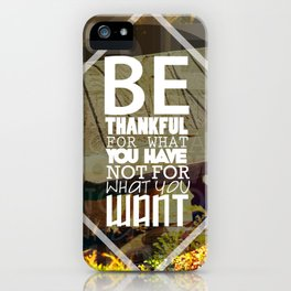 Be.. iPhone Case