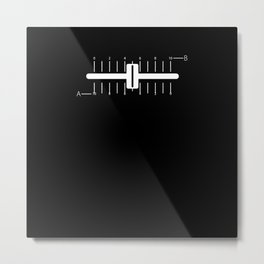 Crossfader DJ - Short Fader - Simple Fader Metal Print