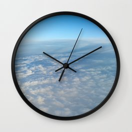 Far above the cotton wool factory Wall Clock