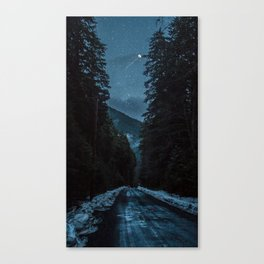Deer, wish upon a moon Canvas Print
