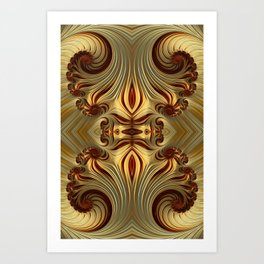 Milk Chocolate Swirls Art Print