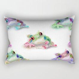 Tree Frog Pattern Rectangular Pillow