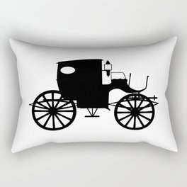 Old Carriage Silhouette Rectangular Pillow