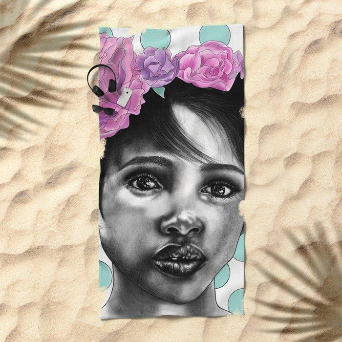 Princesse Paris Rose Beach Towel