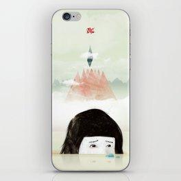 Girl Mountain iPhone Skin