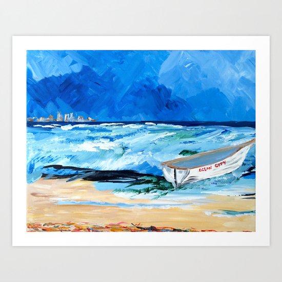 Ocean City Summer Art Print