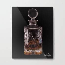 Bourbon in Decanter Metal Print