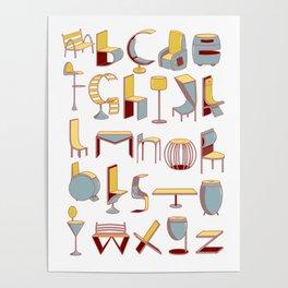 Chair alphabet Poster