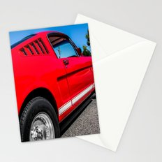 1965 Red Fastback Ford Mustang Muscle Car Stationery Cards
