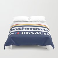 senna Duvet Covers featuring Williams F1 Rothmans Ayrton Senna by Krakenspirit