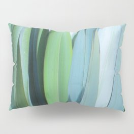blue and green leaves Pillow Sham