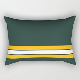 Green bay graphic Rectangular Pillow