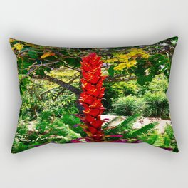 Alpinia purpurata – Red Ginger Flower, Nature in Bogota, Colombia Rectangular Pillow