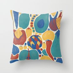 fruits and vegetables strict Throw Pillow