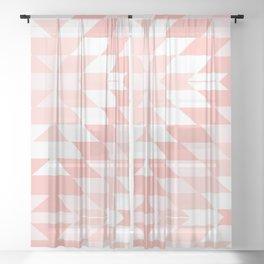 San Pedro in Pastel Pink Sheer Curtain