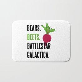 BEARS, BEETS, BATTLESTAR, GALACTICA Bath Mat