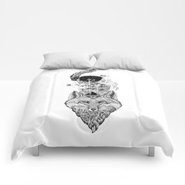 Fox Space Forest Comforters