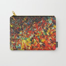 END OF THE RAINBOW - Bold Multicolor Abstract Colorful Nature Inspired Sunrise Sunset Ocean Theme Carry-All Pouch