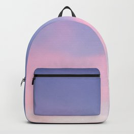 Blue evening sky with pink clouds. Photography Backpack