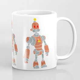 brown robot with lamp head Coffee Mug