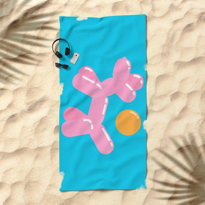 Dog meets Summer  Beach Towel