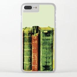 VINTAGE BOOKS Pop Art Clear iPhone Case