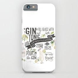 Gin Tonic Recipe In Watercolor iPhone Case