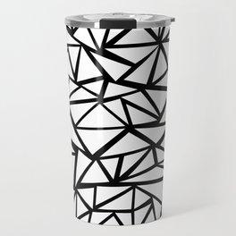 Mozaic Triangle White Travel Mug